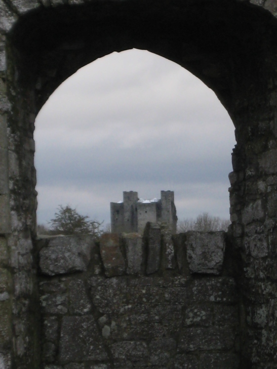View of the Castle through the old window