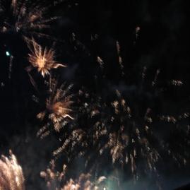 Rainy fireworks