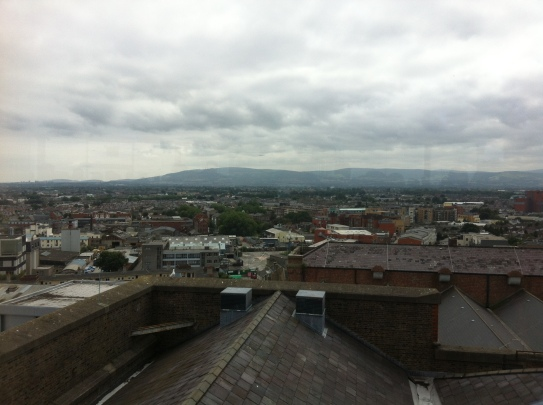 You can see far out across Dublin